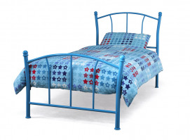 PENNY 90 CM BLUE GLOSS SINGLE BED
