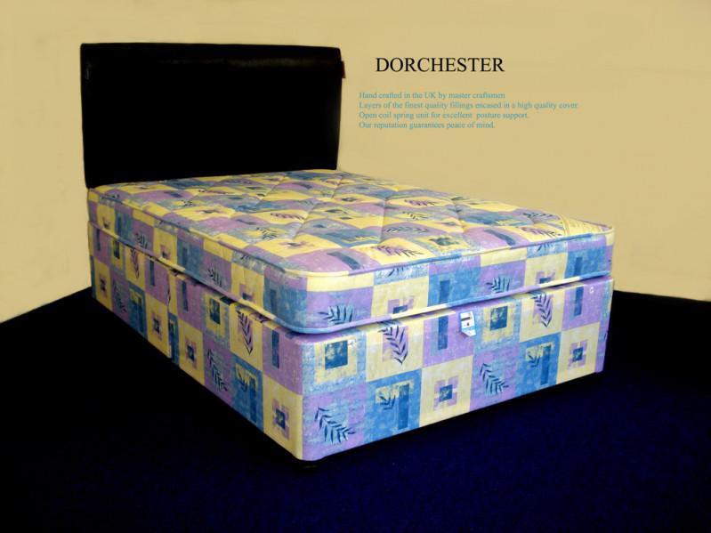 Deans furnishers divan set dorchester non storage for 2 6 divan with storage